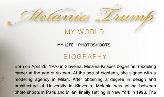 Melania degree