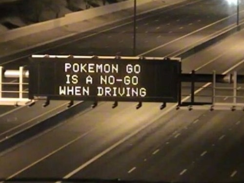 Pokemon go traffic sign