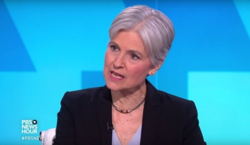 To be fair, this photo should only show about 40% of Jill Stein's face...