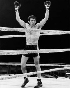 The character of Jake LaMotta is fictional, and any similarity to Jake LaMotta is purely coincidental...