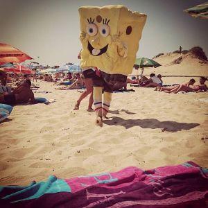 Sponge Bob on the beach