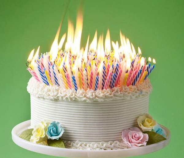 Pretend Birthday Cake Candles