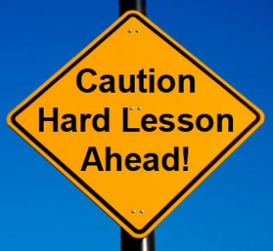 """That should be """"lessons,"""" plural..."""