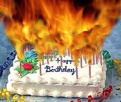 flaming-cake