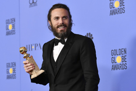 Mandatory Credit: Photo by Rob Latour/REX/Shutterstock (7734778do) Casey Affleck - Best Performance by an Actor in a Motion Picture - Drama - Manchester By The Sea 74th Annual Golden Globe Awards, Press Room, Los Angeles, USA - 08 Jan 2017