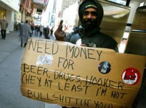 panhandler