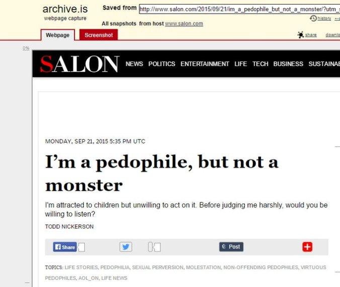 pedophile