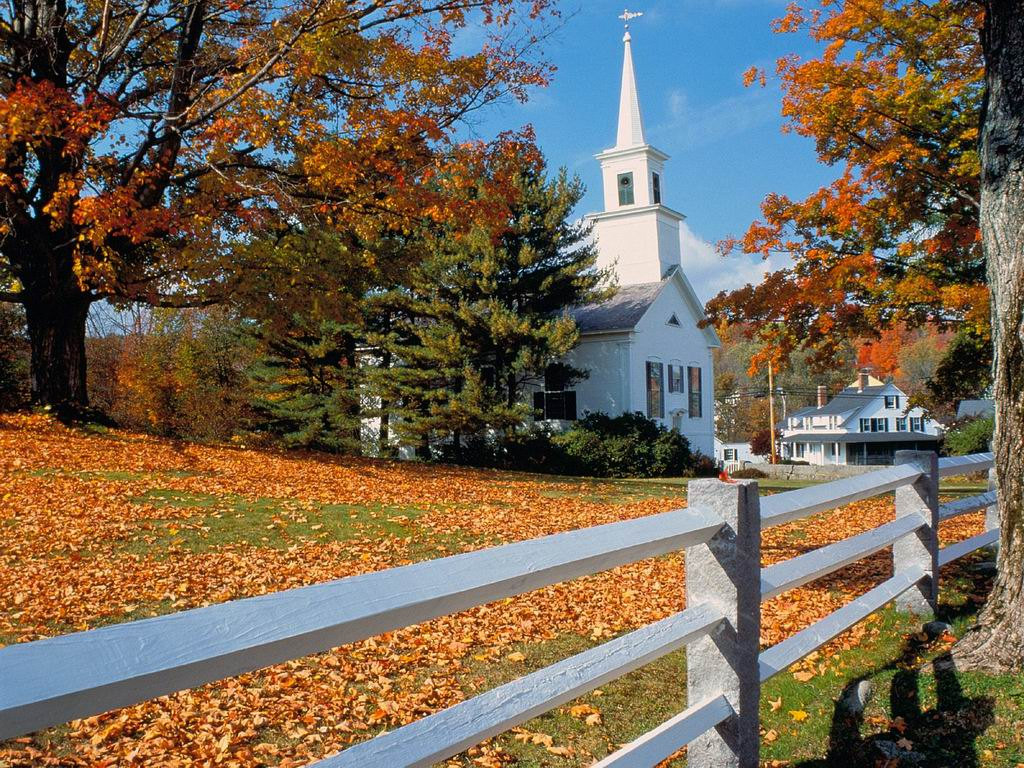 Autumn church