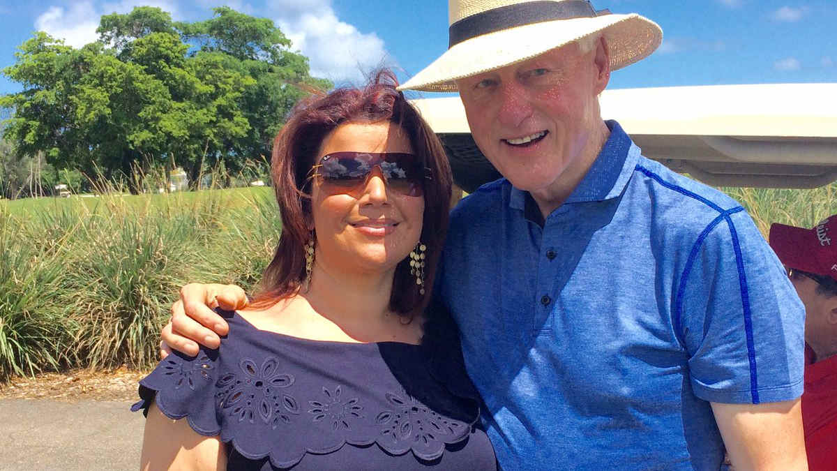 Ana Navarro and Bill Clinton