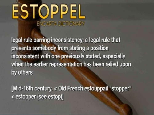 kinds of estoppel