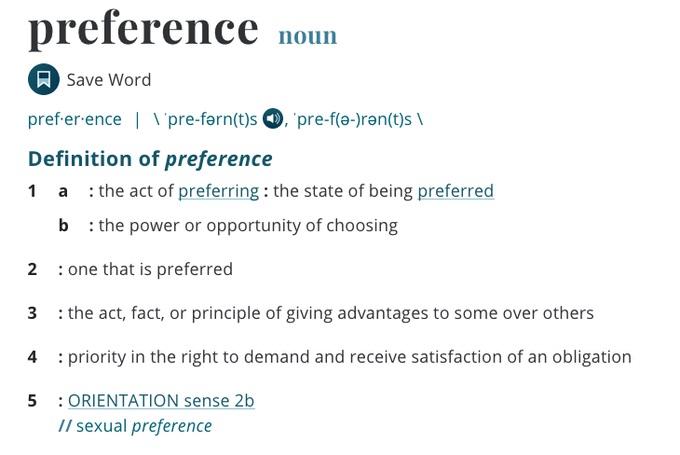 Preference 1