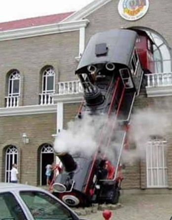 steam train wreck