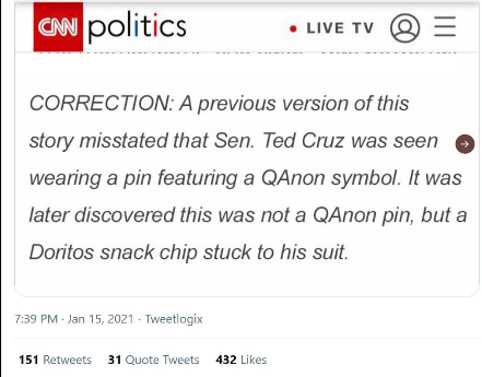 Fake CNN correction