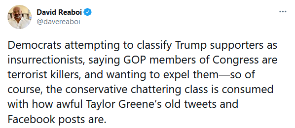 Tweet re Greene