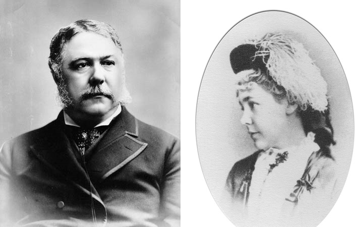 Chester Arthur and Julia