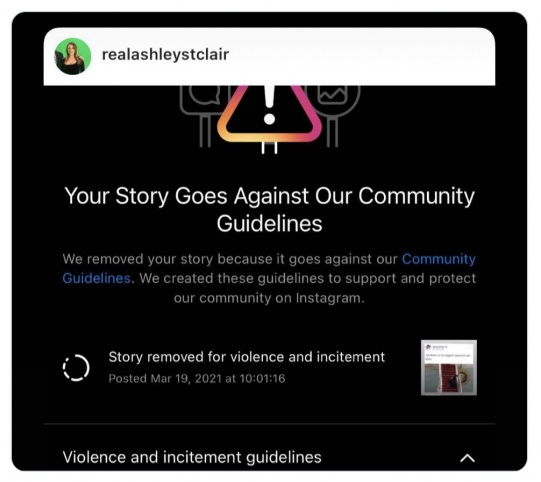 Instagram ban