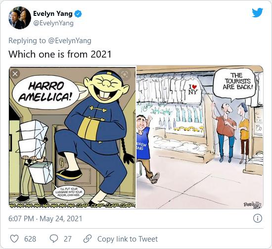 Yang cartoon tweet