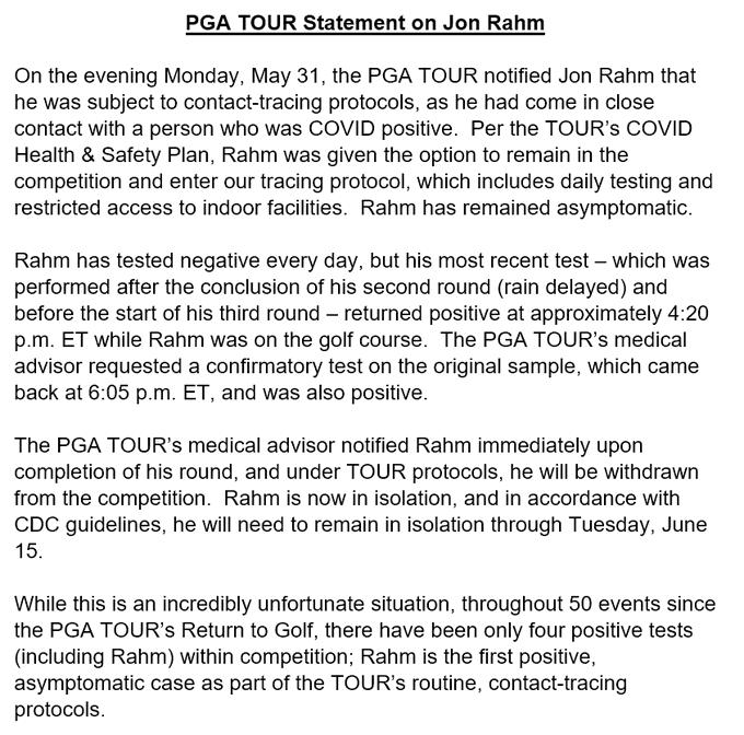 PGA statement