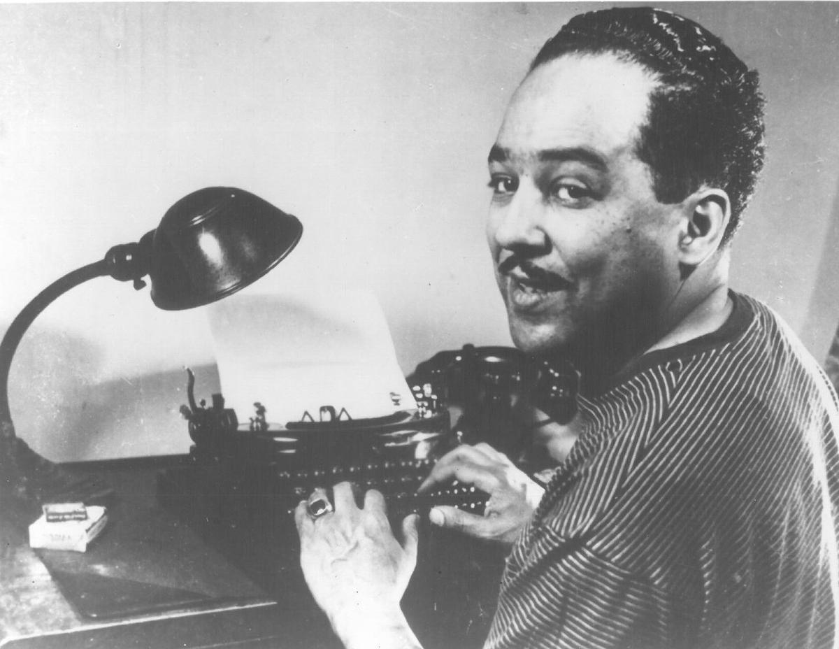 Hughes-at-his-typewriter