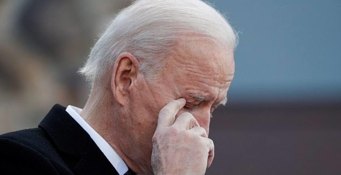 Biden weeps