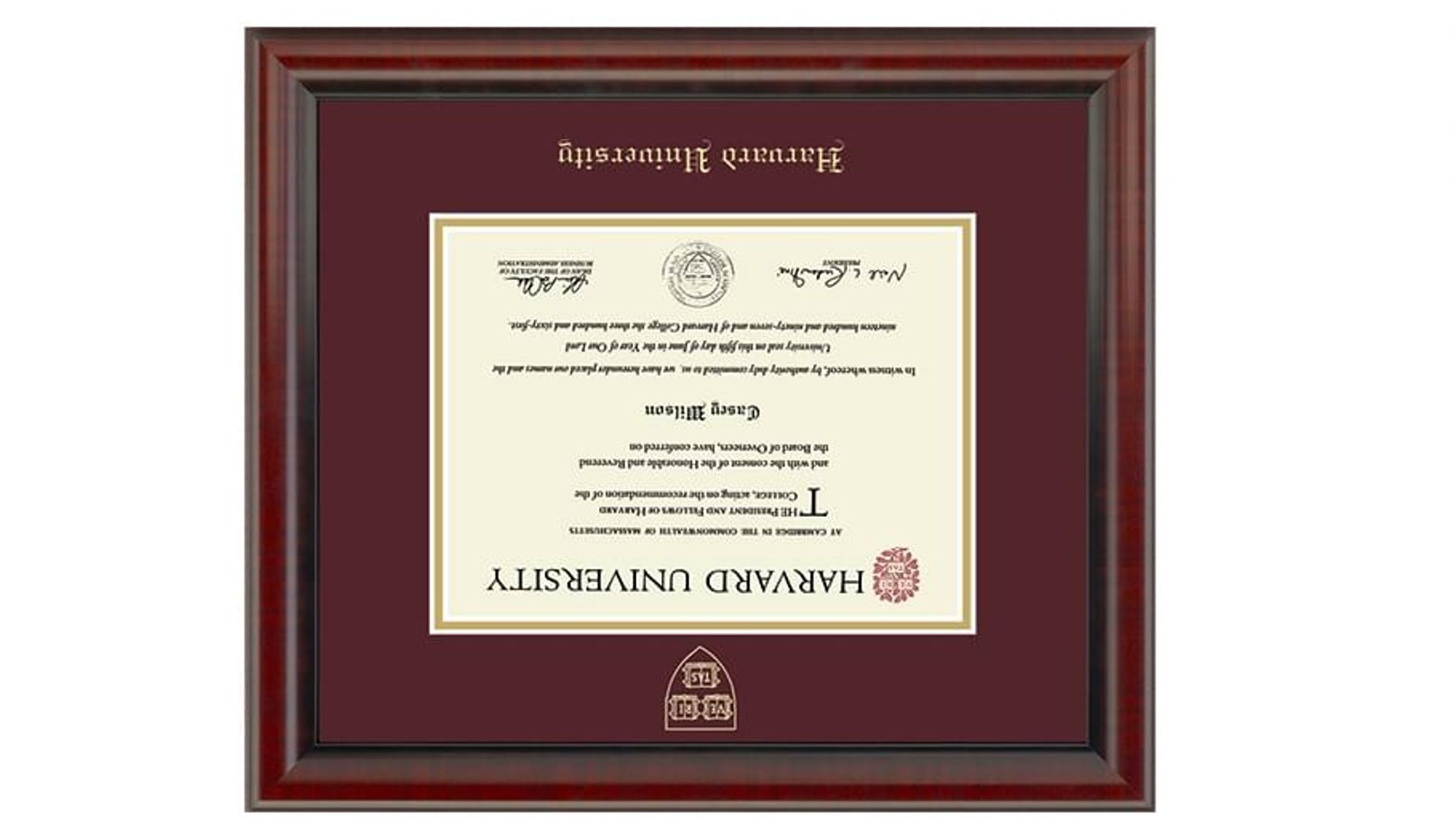 Harvard diploma