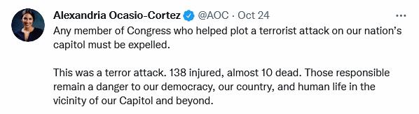 AOC tweet deaths